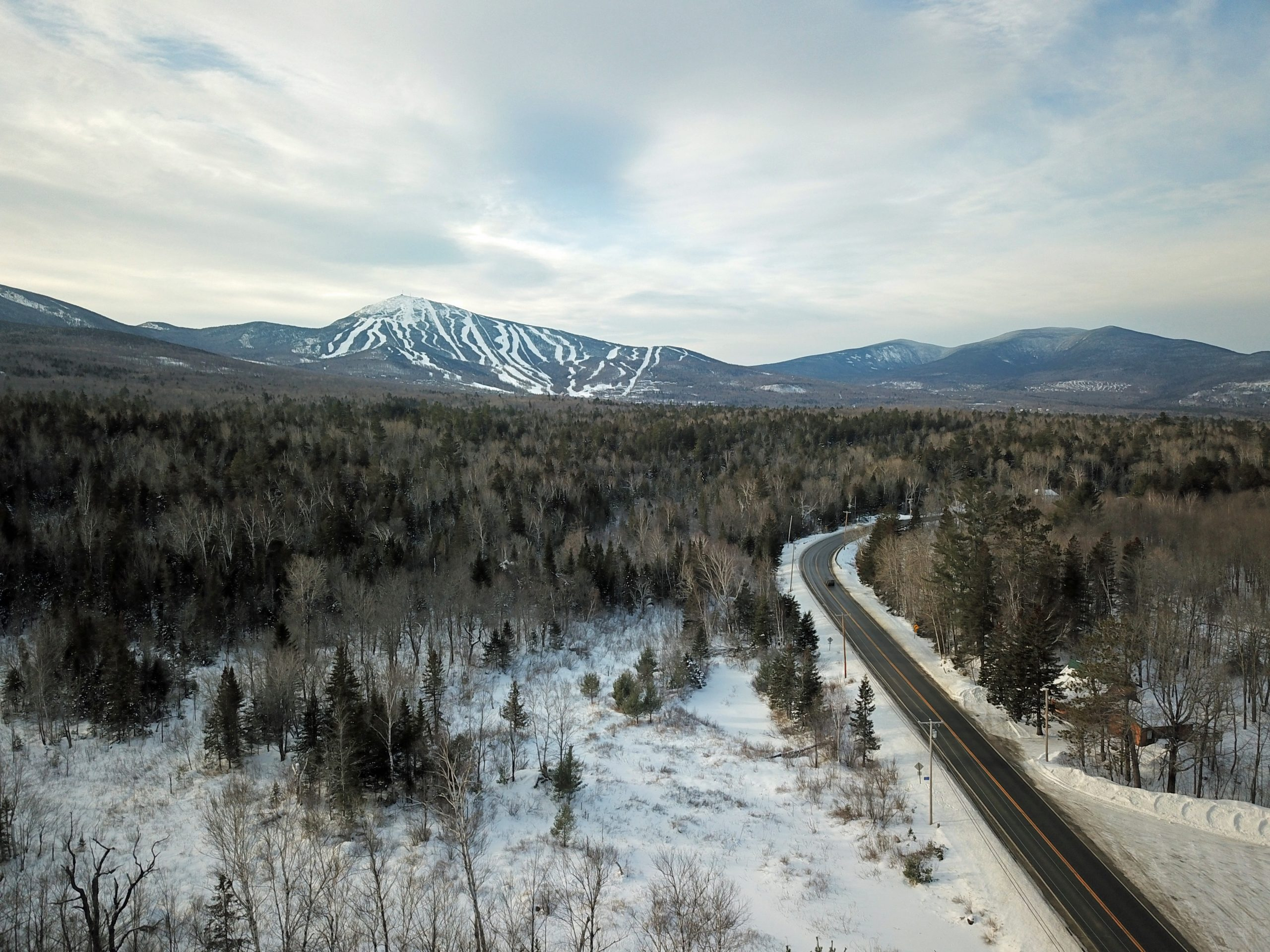 sugarloaf mountain maine drone photography