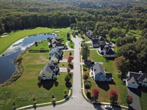 aerial photography from a drone for real estate marketing